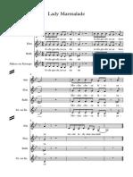 Lady Marmalade Score - Full Score