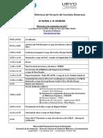 Programa XVII Encuentro de Bibliotecas UByD