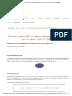 Funciones Cadenas PHP
