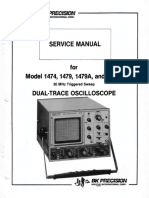 Bk-precision 1474 1479 a b 2x5mv 30mhz Delayed Oscilloscope Full Sm - Copia
