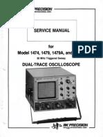 Bk-precision 1474 1479 a b 2x5mv 30mhz Delayed Oscilloscope Full Sm - Copia