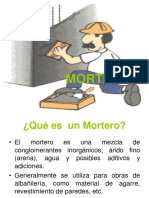 Descripcion de Morteros