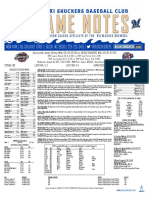 8.30.17 vs. JAX Game Notes