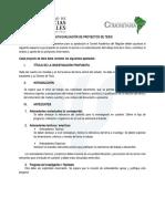 Pauta de Evaluacion de Proyectos de Tesis