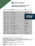 Pakistan Exams Gce Result Mj10 Lhr Pk851