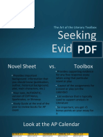 seeking evidence toolbox guide