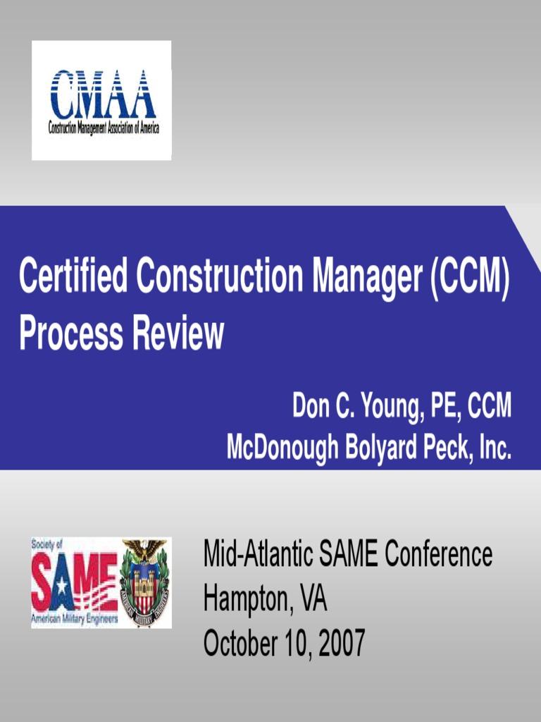 ccm certification construction management