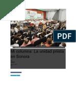 10-07-2017 La Unidad Priista en Sonora