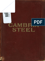 Cambria Steel a Handbook of Information Relating to Structural Steel 1914