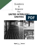 Unistrut United Interlock Grating Faq