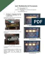 Modulación en frecuencia (informe final Telecomunicaciones 1) -FIEE-UNI