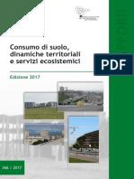 Rapporto Consumo Suolo in Italia edizione 2017