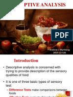Food Descriptive Analysis