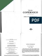 COPERNICO ,Nicolas - Sobre Las Revoluciones - COMPLETO