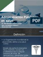 Administración Pública en el Sector Salud. El caso de México