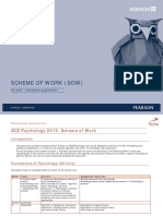 As Psychology (Standalone) Scheme of Work