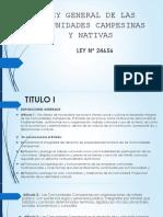 Ley General de Las Comunidades Campesinas y Nativas