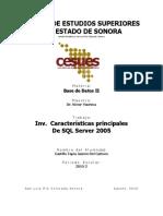 Caracteristicas Principales SQL SERVER