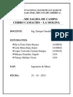 MINERALOGIA-INFORME CERRO CAMACHO (UNMSM)