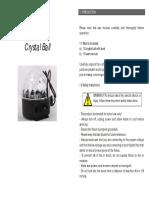 DMX LED RGB Crystal Magic Ball Manual