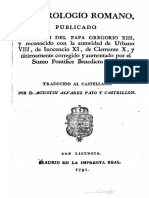 Martirologio Romano (1792)