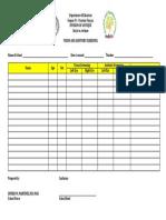 Vision-Auditory Screening Form