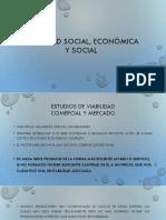 Viabilidad Social, Económica y Social