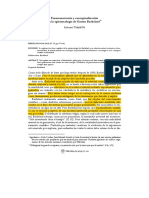 Fenomenotecnia Y Conceptualizacion en La Epistemologia - Bachelard - Torretti