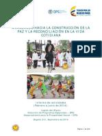 AVANZANDO HACIA LA CONSTRUCCIÓN DE LA PAZ Y LA RECONCILIACIÓN EN LA VIDA COTIDIANA 2014