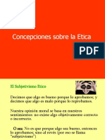 ÉTICA PROFESIONAL  - etica concepciones