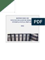 Textos Legales de Derecho Internacional Privado 20161