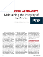 Affidavits Must Be Correct
