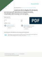 Pacientes Con Trastorno de La Deglución Después de Ventilación Mecánica y Traqueostomía, Resultados Del Manejo Con Terapia Deglutoria en UCI- «Serie de Casos»