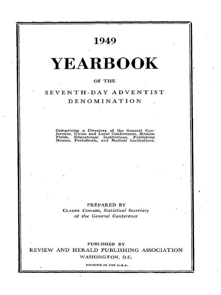 YB1949   Seventh Day Adventist Church   Restorationism (Christianity) 49d8caafb20