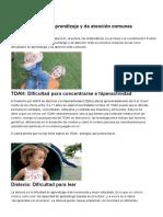 Tipos de Dificultades de Aprendizaje y de Atención _ TDAH, Dislexia, Disgrafía