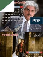 3 Idiots Calendar