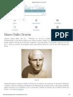 Biografia de Marco Tulio Cicerón