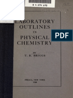 Briggs Laboratory Outlines in Physical Chemistry (1920)