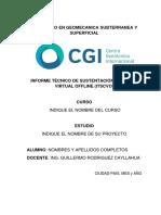 Formato de Informe Tecnico de Sustentacion - Diplomado