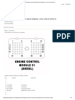 DODGE RAM Cummins ECM Pin Layout Diagram