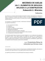 Mecanica de Suelos - CT002 - Minerales y Arcillas