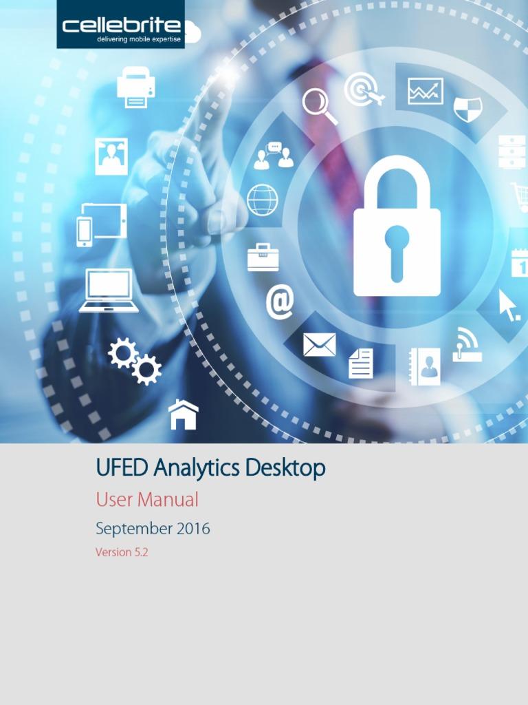 UFED Analytics Desktop Manuals | Tag (Metadata) | Personal Computers