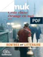 Orhan Pamuk - Cette Chose 233 Trange en Moi