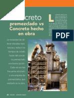 El Concreto Premezclado vs El Concreto Hecho en Obra