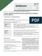 Técnicas Cognitivo-conductuales de Fácil Aplicación en Asistenciaprimaria 2