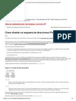 Cómo Diseñar Un Esquema de Direcciones IPv4 (Guía de Administración Del Sistema_ Servicios IP)