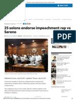 25 Solons Endorse Impeachment Rap