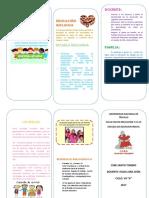 Tríptico de Educación Inclusiva Santo Toribio