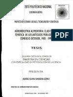 Agroindustria Alimentaria, Clasificación Temática de Los Artículos Publicados en Comercio Exterior, 1985-1996