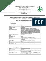 Pedoman Monitoring Indikator Mutu Klinis